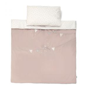Mamas and Papas - 704290900 - Cot/Bed Duvet Cover & PC - Bird Emb Pink (345980)