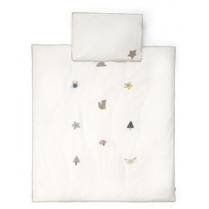Mamas and Papas - 7042V8800 - Cot/Bed Duvet Cover & PC - Woodland Off White (345984)
