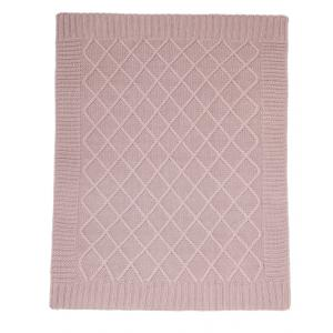 Mamas and Papas - 392490900 - Knitted Blanket - Dusky Rose Pink (346092)
