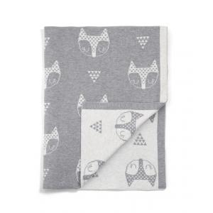 Mamas and Papas - 7883T9102 - Knitted Blanket (70x90cm) - Fox Head Grey (346106)