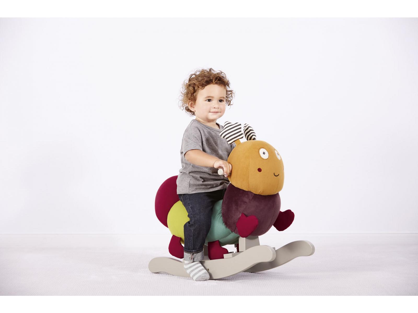 mamas and papas animal bascule charlie la chenille. Black Bedroom Furniture Sets. Home Design Ideas