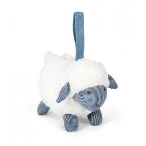 Mamas and Papas - 485535009 - Soft Toy - Chime Sheep Blue Welcome To The World (346496)