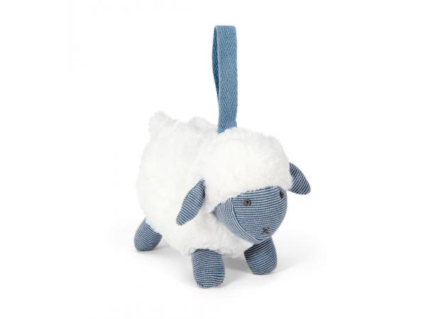 Soft toy - chime sheep blue welcome to the world