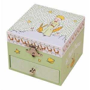 Trousselier - S20230 - Coffret Musique Cube Le Petit Prince - Jardin - Figurine Petit Prince (346638)