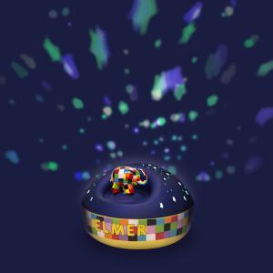 Trousselier - 5064 - Veilleuse - Projecteur d'Etoiles Musical Elmer© 12 Cm - Piles Inclues (346706)