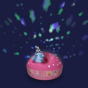 Trousselier - 5300 - Veilleuse - Projecteur d'Etoiles Musical Disney Princess© 12 Cm - Cendrillon - Piles Inclues (346712)