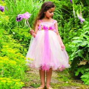 Travis - SUF6 - Costume Summer Fairy & Wand pink/yellow/green - 6 à 8 ans (347392)
