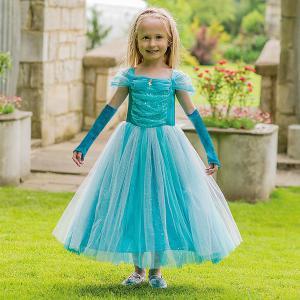 Travis - TSPR6 - Costume Turquoise Sparkle Princess turquoise - 6 à 8 ans (347432)