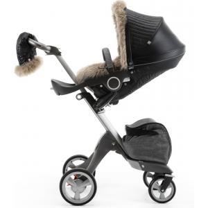 Stokke - 380403 - Habillage kit hiver Noir agathe compatible avec Xplory®, Crusi™and Trailz™ (348600)