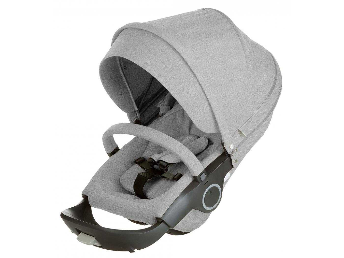 stokke si ge de poussette gris m lange compatible avec. Black Bedroom Furniture Sets. Home Design Ideas