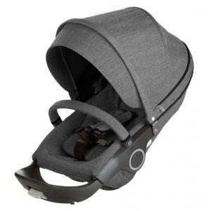 Stokke - 281211 - Siege noir melange pour poussette STOKKE® Trailz(TM), Xplory® ou Crusi(TM) (capote avec visiere et matelas reducteur incl (348698)