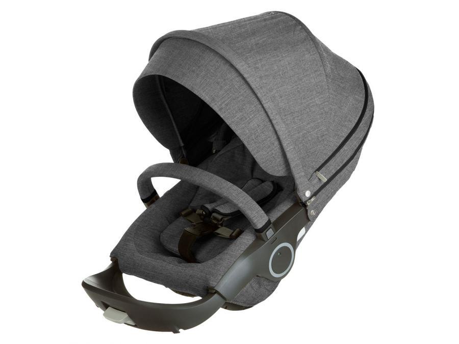 stokke si ge de poussette noir m lange compatible avec. Black Bedroom Furniture Sets. Home Design Ideas