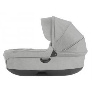 Stokke - 282317 - Nacelle complète : Base grise - habillage et capote Gris Mélange pour poussette Trailz (348706)