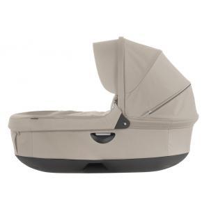 Stokke - 282312 - Nacelle complète : Base grise - habillage et capote Beige Mélange pour poussette Trailz (348708)