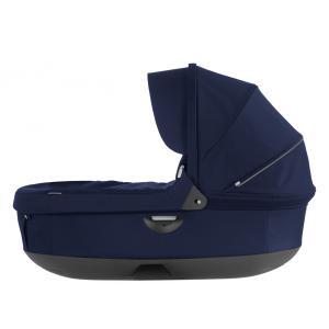 Stokke - 282309 - Nacelle complète : Base grise - habillage et capote Bleu Profond pour poussette Trailz (348710)