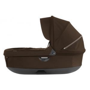 Stokke - 282307 - Nacelle complète : Base grise - habillage et capote Marron pour poussette Trailz (348714)