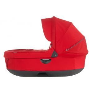 Stokke - 282305 - Nacelle complète : Base grise - habillage et capote Rouge pour poussette Trailz (348716)