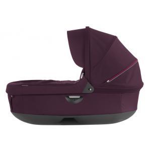 Stokke - 282304 - Nacelle complète : Base grise - habillage et capote Prune pour poussette Trailz (348718)