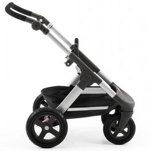 Stokke - 369600 - Nouvelle Poussette Trailz Chassis argenté avec roues tout terrain, Roues tout-terrain (348728)