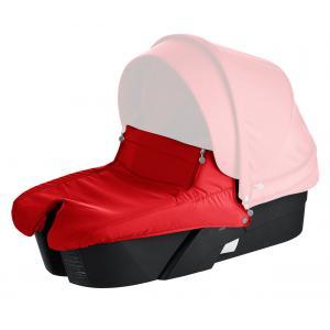Stokke - 480504 - Nacelle pour poussette Xplory V5 : base noire, tablier Rouge (348756)
