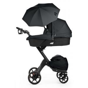 Stokke - 480502 - Nacelle pour poussette Xplory V5 : base noire, tablier Noir (348760)