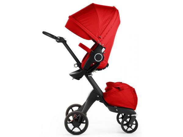 stokke poussette xplory v5 chassis noir avec si ge rouge. Black Bedroom Furniture Sets. Home Design Ideas