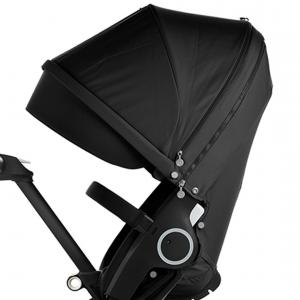 Stokke - 480002 - Poussette Xplory V5 Chassis noir avec siège Noir, porte gobelet et ombrelle inclus (348768)