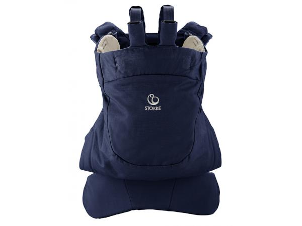 Porte bébé stokke mycarrier position dorsale - bleu profond 6acc309e7c9