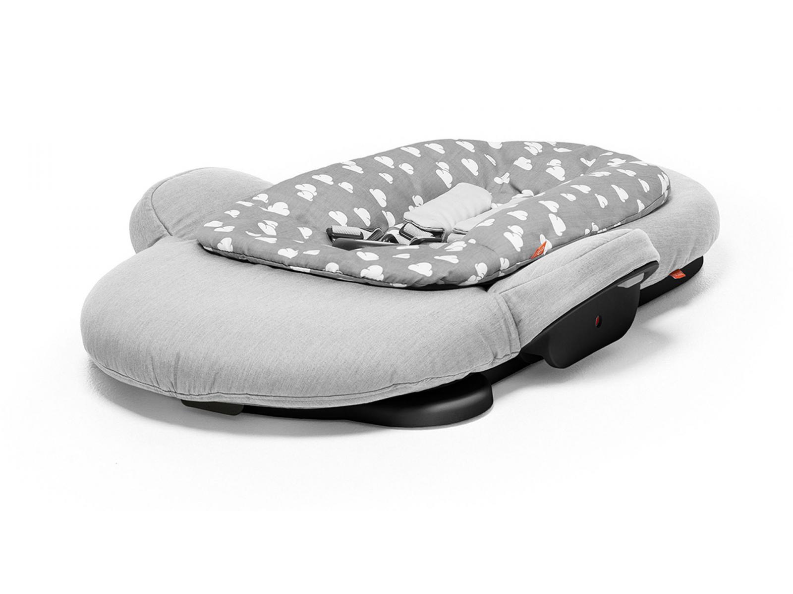 stokke transat stokke steps tm couleur gris nuage avec armature en noir. Black Bedroom Furniture Sets. Home Design Ideas