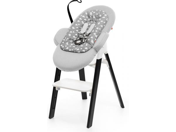 stokke transat steps housse gris nuage avec armature noire. Black Bedroom Furniture Sets. Home Design Ideas
