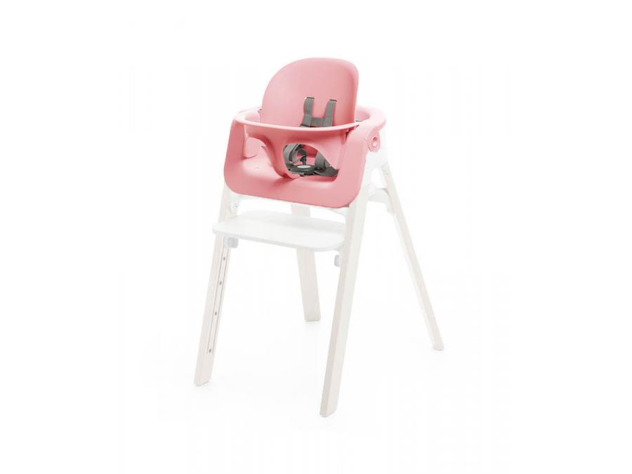 stokke baby set rose pour chaise haute steps. Black Bedroom Furniture Sets. Home Design Ideas