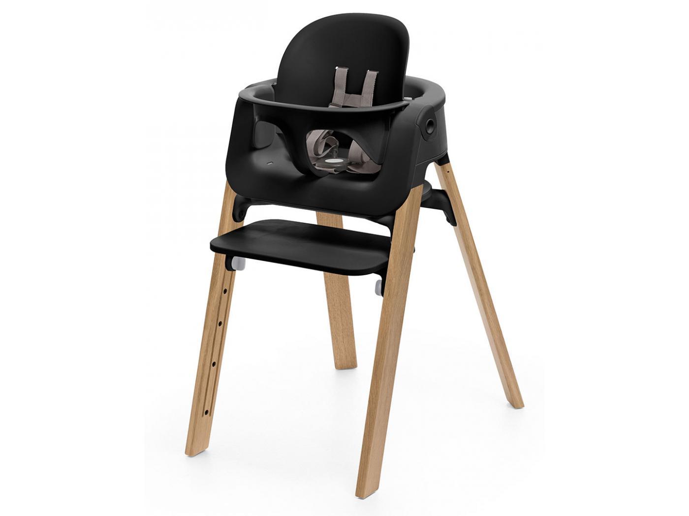 stokke baby set noir pour chaise haute steps. Black Bedroom Furniture Sets. Home Design Ideas
