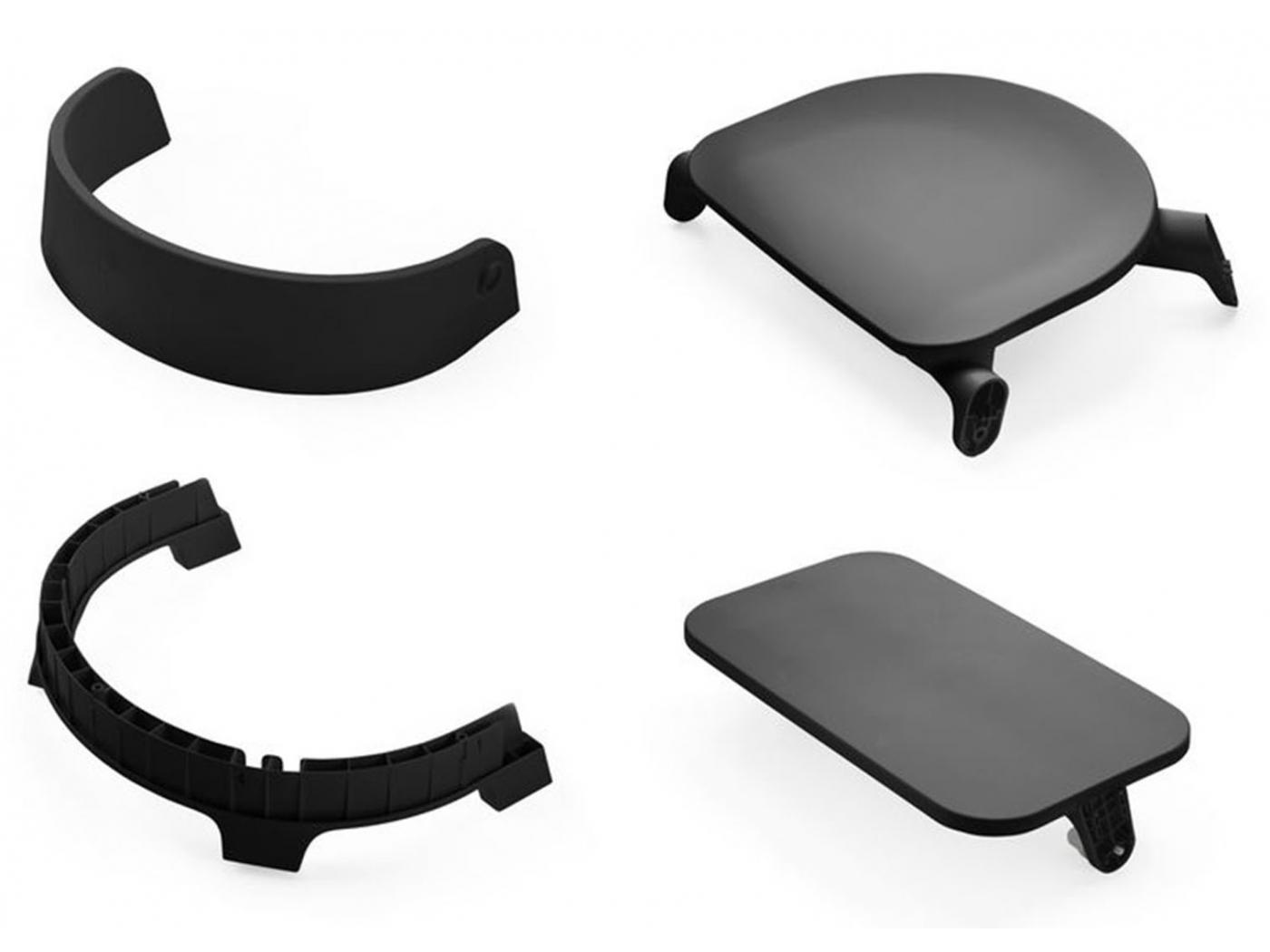 stokke assise noir pour chaise haute steps. Black Bedroom Furniture Sets. Home Design Ideas