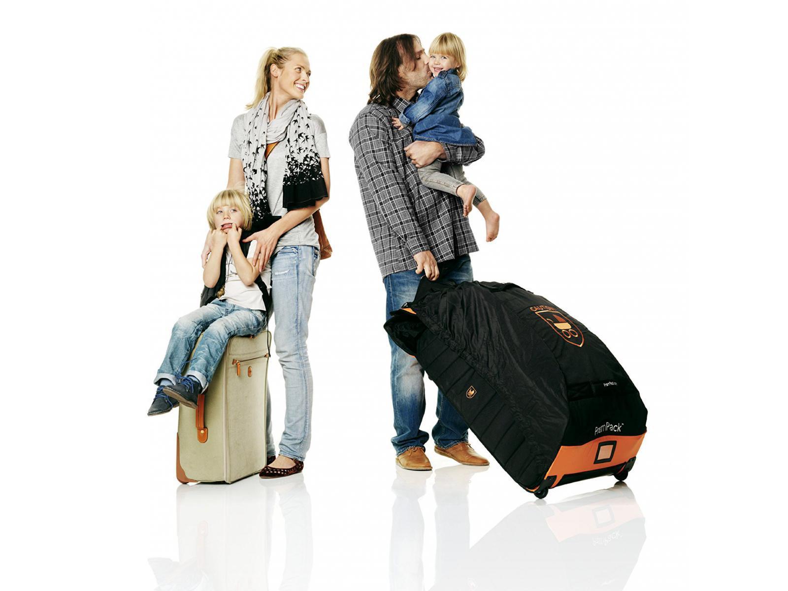 Stokke PRAMPACK Protecteur Vacances Voyage Poussette Poussette Sac-Noir//Orange