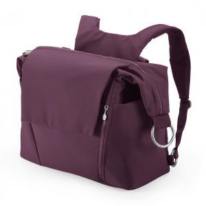 Stokke - 457102 - Nouveau Sac à langer Prune* pour poussette Stokke, avec deux modes de portage (348890)
