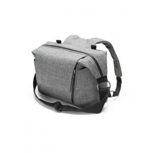 Stokke - 457104 - Nouveau Sac à langer Noir Mélange pour poussette Stokke, avec deux modes de portage (348894)