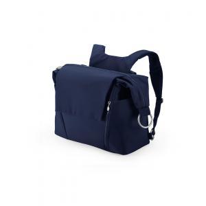 Stokke - 457107 - Nouveau Sac à langer Bleu Profound pour poussette Stokke, avec deux modes de portage (348900)