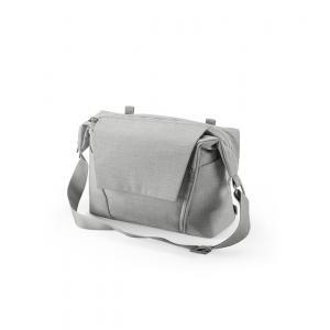 Stokke - 457108 - Nouveau Sac à langer Gris Mélange pour poussette Stokke, avec deux modes de portage (348902)