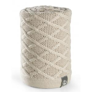 Stokke - 177813 - Couverture en coton Cable Cream (348924)