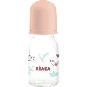 Beaba - 911610 - Biberon verre Origami 110 ml (coloris assortis bluenude) (349118)