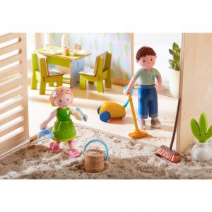 Haba - 303016 - Little Friends – Accessoires pour maison de poupée Nettoyage de printemps (350164)