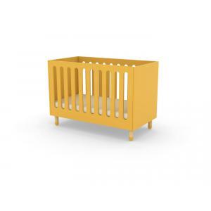 Flexa Play - 80-19802-70 - Lits bébés à barreaux en MDF et frêne 60x120 cm Jaune (350442)