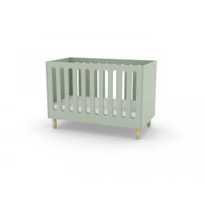Flexa Play - 80-19802-79 - Lits bébés à barreaux en MDF et frêne 60x120 cm Vert menthe (350444)