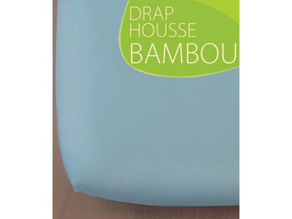 kadolis drap housse bambou bleu ciel 70x140. Black Bedroom Furniture Sets. Home Design Ideas