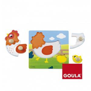 Goula - 53052 - Puzzle poule(22x22cm) (351480)