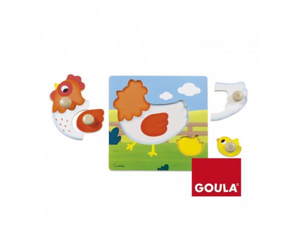 Puzzle poule (22x22 cm)