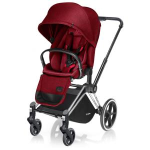 Cybex - BU03 - Poussette Priam Chrome LUXE  Infra Red - red roues light (352250)