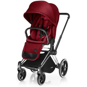 Cybex - BU10 - Poussette Priam Chrome LUXE  Infra Red - red roues trekking (mixte) (352264)