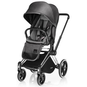 Cybex - BU12 - Poussette Priam Chrome LUXE  Manhattan Grey - mid grey roues trekking (mixte) (352268)