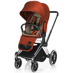 Cybex - BU13 - Poussette Priam Chrome LUXE  Autumn Gold - burnt red roues trekking (mixte) (352270)